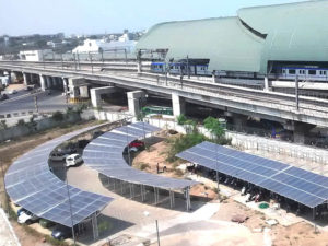 125 kWp Grid Tie Carport SPV plant, Chennai, TN