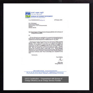 ESCO certification
