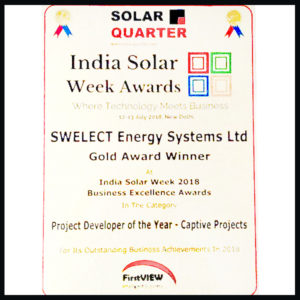 Solar Quarter's Project Developer of the Year – Captive Projects